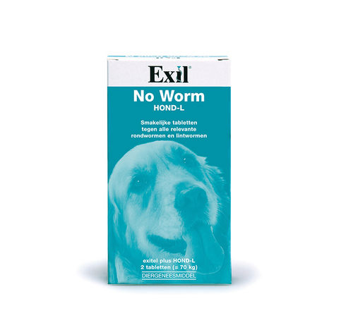 Exil No Worm grote hond 2 tablet