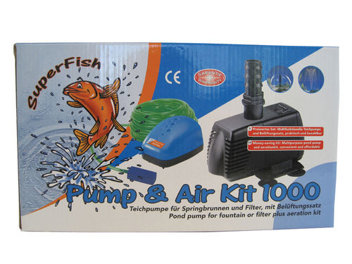 Superfish Pump & Air Kit 1000