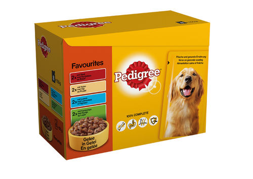 Pedigree Multipack Pouch Favourites 12 x 100gr