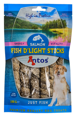 Antos Fish D'light Salmon Sticks 100gr