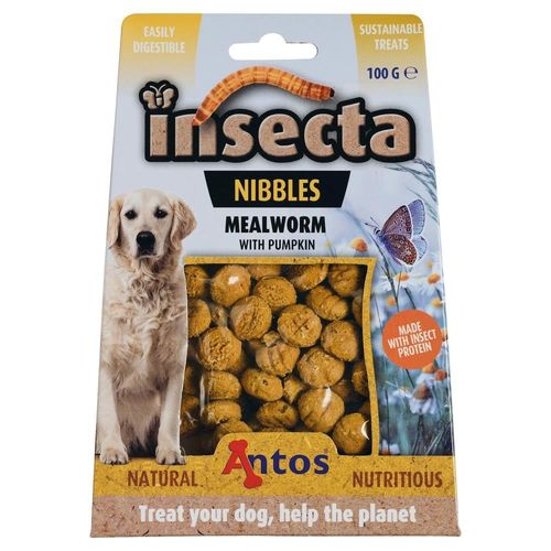 Antos Insecta Nibbles Meelworm & Pompoen 100gr
